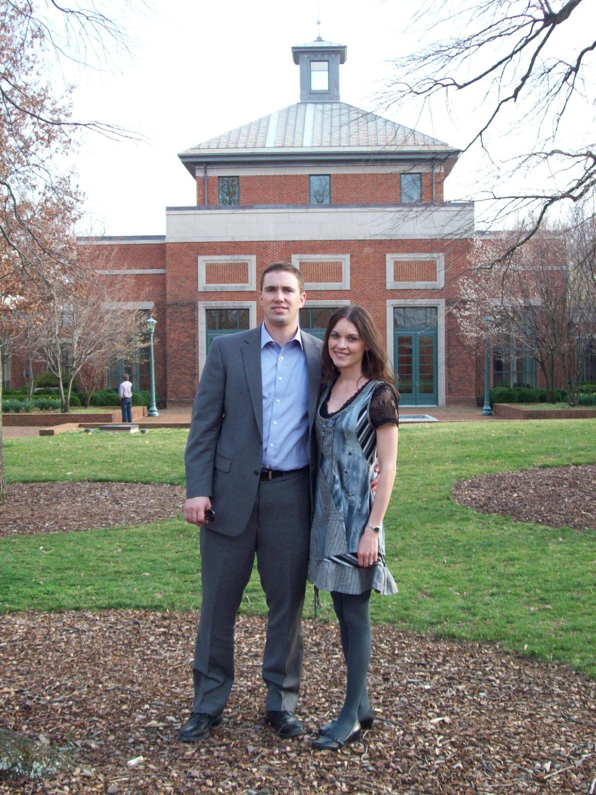 Annie & Shon at UVA law school - Cockle Legal Briefs