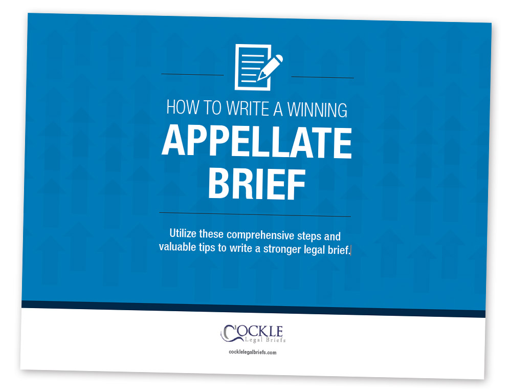 how to write an appellate brief