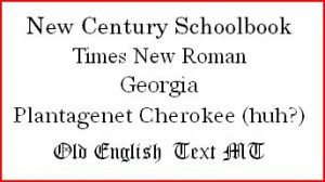 century font